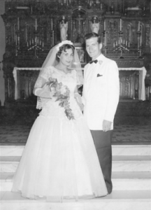 Rose Mary and Rex Walls on their wedding day