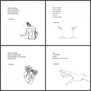 Milk and Honey illustrations