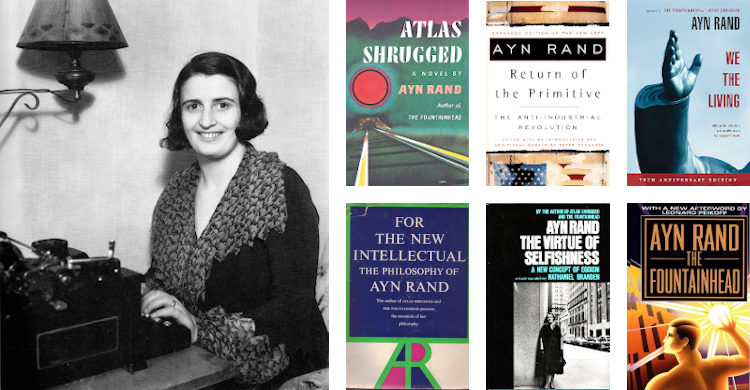 Top 9 books by Ayn Rand